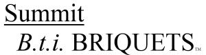 Summit Bti Briquets